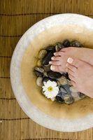 Coisas necessárias para termas do pé