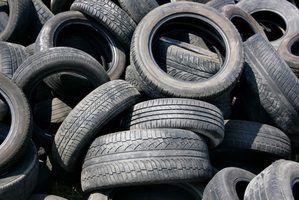 As coisas que podem ser feitas a partir de pneus reciclados