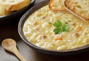 Coisas para comer com sopa de ervilhas
