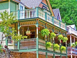 Casa cores vitorianas tradicionais