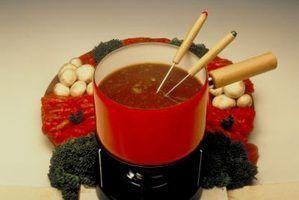Tipos de combustível fondue