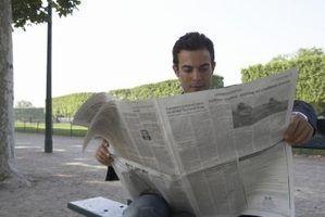 Tipos de histórias de jornal