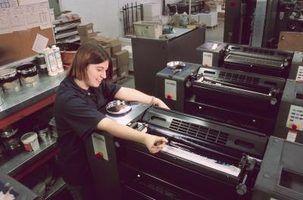 Tipos de máquinas da imprensa de impressão