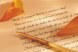 Tipos de temas em poemas