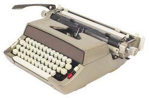 Fontes de máquina de escrever típicos da década de 1960