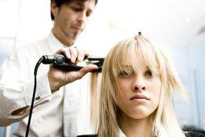 Vários cortes de cabelo em camadas-shag