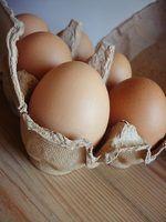 O que são caixas de ovos feitos de?
