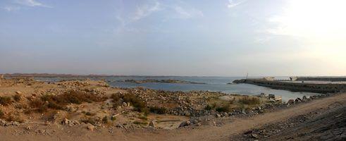 Lago Nasser no Egito é o mundo`s largest man-made lake.