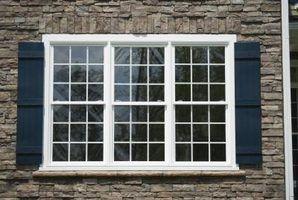 caixilhos das janelas são feitas em muitos estilos.