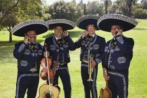 Que instrumentos formam uma banda mariachi?