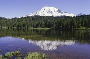 Mount Rainier, no estado Washingtong.