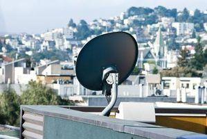 Que tipo de cabo deve ser usado para instalar um satélite digital?
