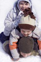 Desportos de inverno para crianças