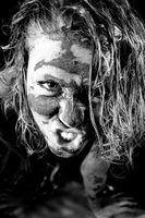Zombie halloween maquiagem de efeitos especiais
